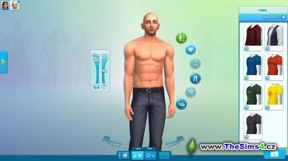 Holka v The Sims 4 editoru simíků