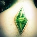 Velké tetování na zádech
