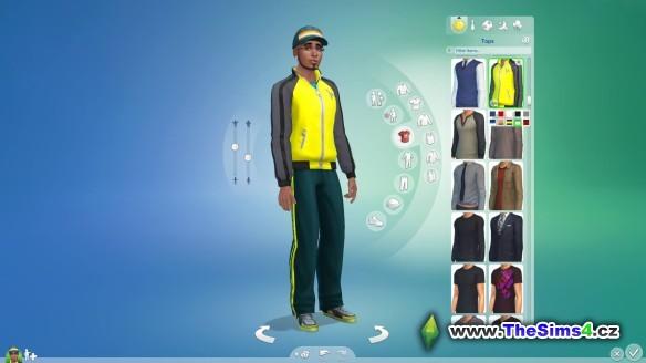 Tvorba vzhledu Simíka v The Sims 4