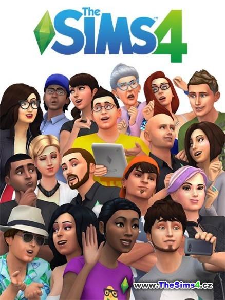 The Sims 4 obal s celou rodinkou