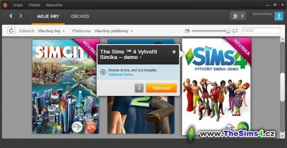 The Sims 4: Vytvořit Simíka - demo
