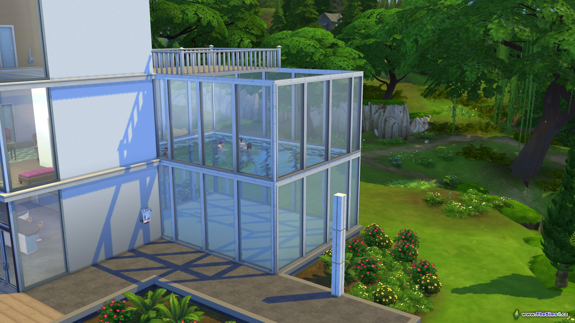how to put fish in sims 4 pools