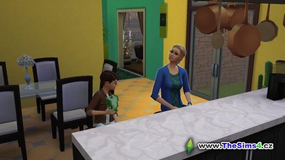Sabina si povídá se Zdeňkem, ten je zaujatý svým robotem.