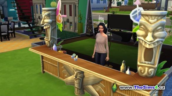 Debora se naučila míchat koktejly a tak nejradši relaxuje na zahradě u bazénu.