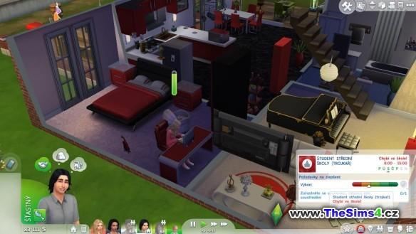 Sabinu poněkud začíná nudit starý dům a ložnice zděděná po prarodičích.