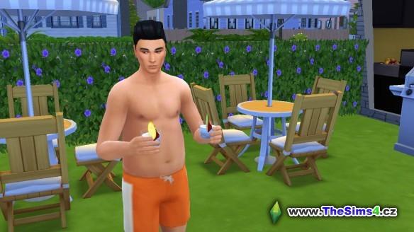 """Samuel také rád """"přemýšlí"""" u koktejlů."""