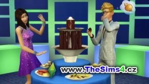Luxusní čokoládová fontána na přepychovém večírku
