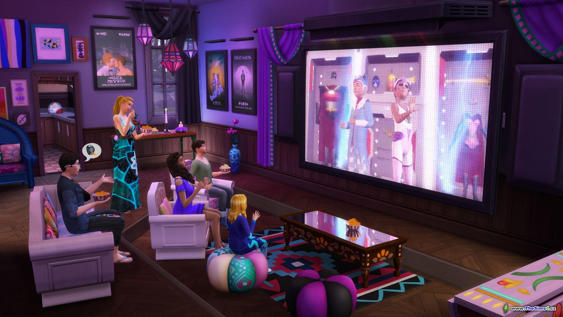 Výsledek obrázku pro the sims 4 domácí kino