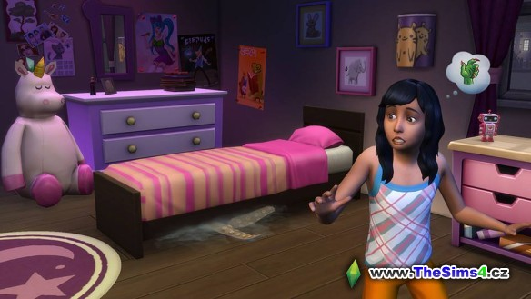 Příšera pod postelí v The Sims 4: Dětský pokoj